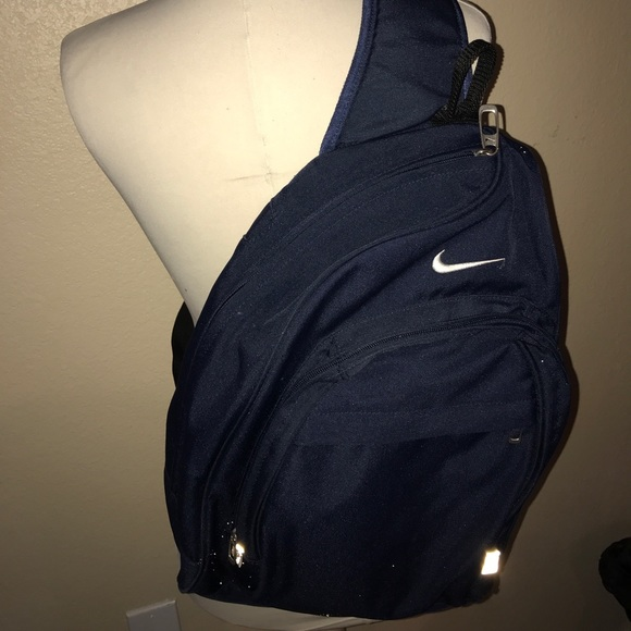 a04eb6be1204d6 Nike Accessories | One Shoulder Strap Backpack Navy Blue | Poshmark
